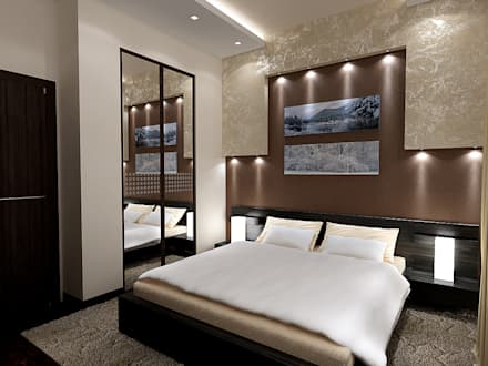 Спальня для гостей 10 кв. м в современном стиле: Спальни в . Автор – Студия интерьера Дениса Серова