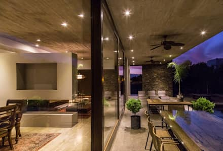 : Terrazas  de estilo  por JPV Arquitecto