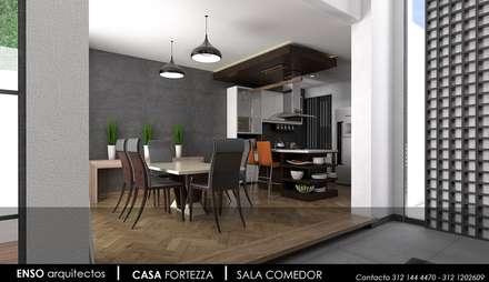 CASA FORTEZZA: Cocinas de estilo moderno por Enso Arquitectos