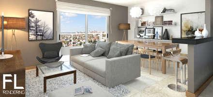 INTERIORES: Livings de estilo moderno por FL Rendering