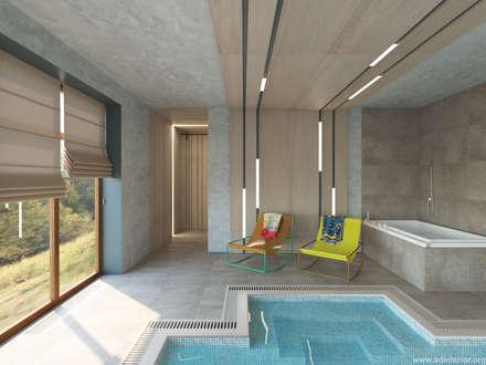Бассейн в частном доме: Бассейн в . Автор - A&D-interior