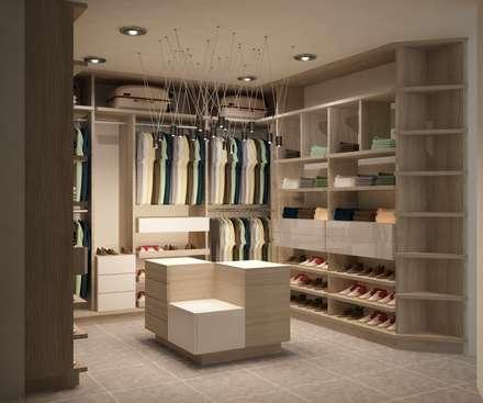 casa del trebol vestidores de estilo moderno por santiago dussan u interior design