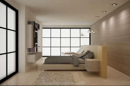 CASA DEL TREBOL: Habitaciones de estilo moderno por santiago dussan architecture & Interior design