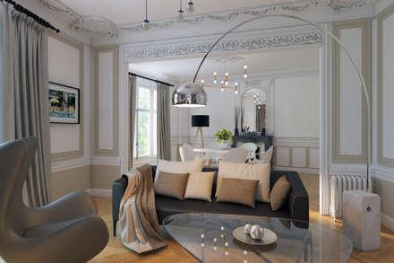 appartement Paris 15ème: Salon de style de style Moderne par Agence KP