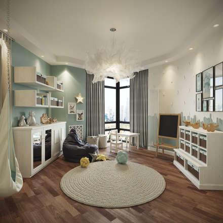 scandinavian Nursery/kid's room by rudakova.ru