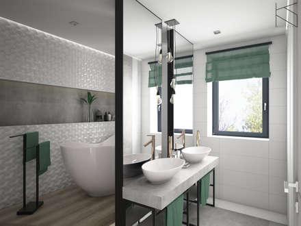 Koncepcyjny projekt łazienki: styl , w kategorii Łazienka zaprojektowany przez KN.wnętrza