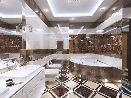 eclectic Bathroom by Студия интерьера Дениса Серова