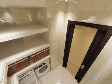 Постирочная 4 кв. м, стиль эклектичный: Ванные комнаты в . Автор – Студия интерьера Дениса Серова