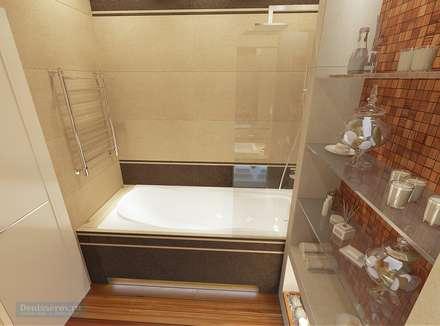 Ванная комната 6 кв. м в современном стиле: Ванные комнаты в . Автор – Студия интерьера Дениса Серова