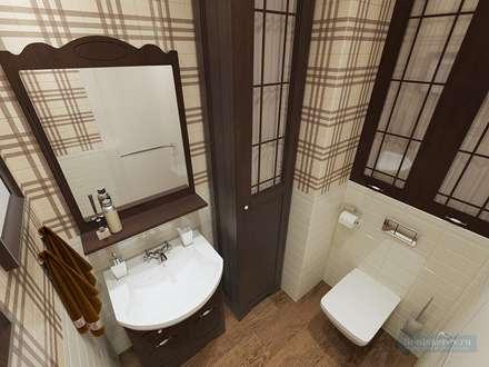 Туалет 2 кв. м в современном стиле: Ванные комнаты в . Автор – Студия интерьера Дениса Серова