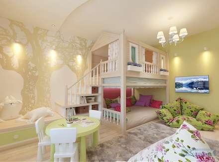 Детская игровая комната 20 кв. м в современном стиле: Детские комнаты в . Автор – Студия интерьера Дениса Серова