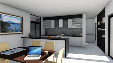 Midstream : rustic Kitchen by Ellipsis Architecture