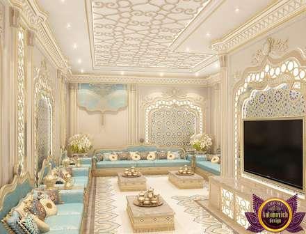 The charm of the oriental style interiors Katrina Antonovich : asian Living room by Luxury Antonovich Design