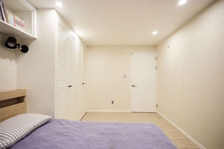 #늘 집에 머물고 싶게 만드는. .34평 리모델링 리뷰 : 제이앤예림design의  침실