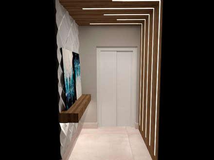 Hall Social: Corredores, halls e escadas modernos por LILIAN FUGITA ARQUITETURA