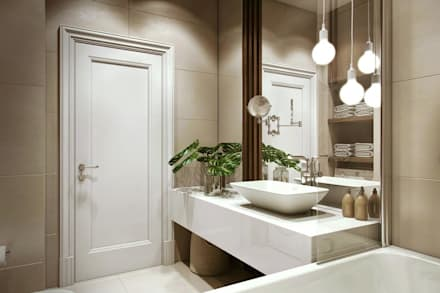 eclectic Bathroom by Дарья Баранович Дизайн Интерьера