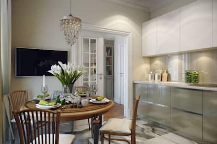 eclectic Dining room by Дарья Баранович Дизайн Интерьера