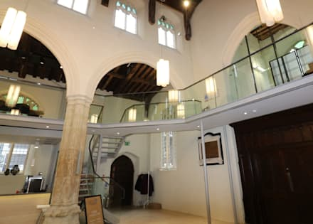 Structural glass in church renovation :  Event venues by Ion Glass