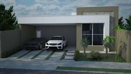 Projeto residencial com 120 metros quadrados: Casas modernas por Construtora Lima Projetos