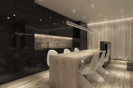 Projekt jadalni: styl , w kategorii Kuchnia zaprojektowany przez CUDO - grupa projektowa
