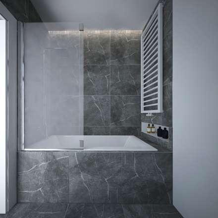 Projekt eleganckiej łazienki dolny śląsk.: styl , w kategorii Łazienka zaprojektowany przez maakk studio