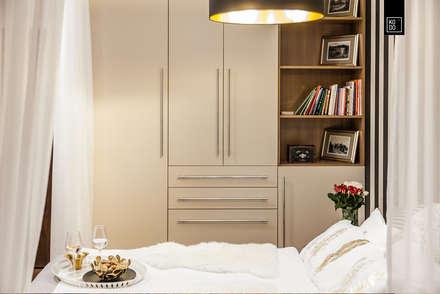 REALIZACJA - OLIMPIA PORT: styl , w kategorii Sypialnia zaprojektowany przez Pracownie Wnętrz Kodo
