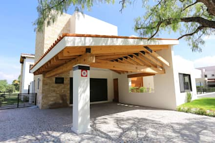 modern Garage/shed by Arquitectura MAS