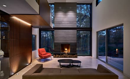 Smoky Quartz: modern Living room by KUBE Architecture