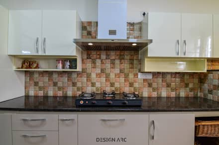 Interior Design Bangalore 2BHK Apartment : modern Kitchen by Design Arc Interiors