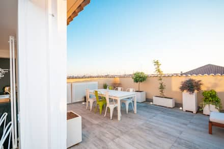 Ristrutturazione appartamento 50 mq: Terrazza in stile  di Fabiola Ferrarello architetto