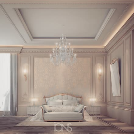 Extravagant yet pleasingly simple and elegant Bedroom Design: classic Bedroom by IONS DESIGN