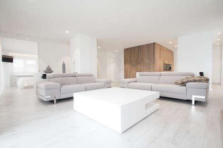 reforma primera lnea salones de estilo minimalista de r borja alvarez arquitecto