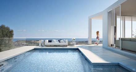Swimming Pool | Outdoor: Piscina in stile in stile Moderno di DMC Real Render