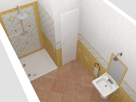 Baños de estilo rústico por Render semplici e veloci