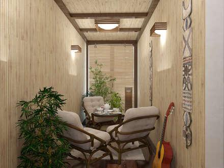 Квартира - холл/коридор, балкон: Зимние сады в . Автор – Первое Дизайн-Бюро