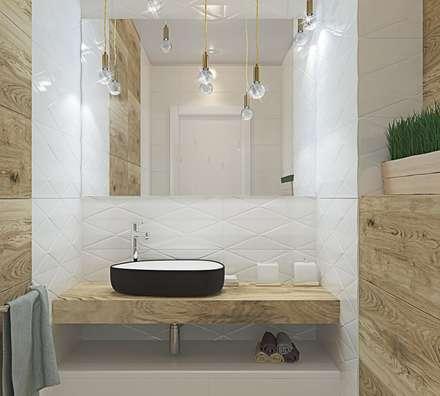 Коттедж в Энгельсе (150 кв.м): Ванные комнаты в . Автор – ДизайнМастер