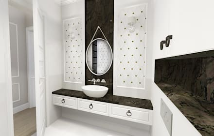apartment: eclectic Bathroom by KOKON zespół architektoniczny
