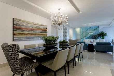 Sala de Jantar: Salas de jantar clássicas por Aleggra Design & Arquitetura - Janaina Naves