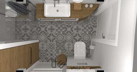 Bielany I: styl , w kategorii Łazienka zaprojektowany przez DW SIGN Pracownia Architektury Wnętrz