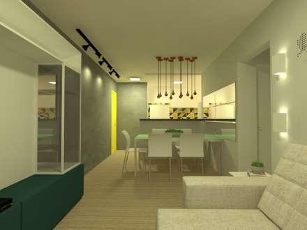 Projeto M|D: Salas de jantar industriais por Office Duo Arquitetura e Interiores