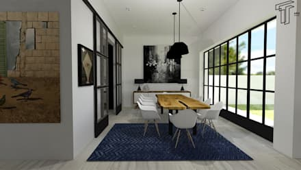 : Comedores de estilo moderno por TAMEN arquitectura