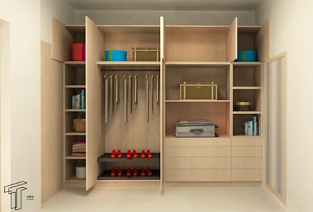 Vestidores y closets modernos ideas homify for Closet de cemento modelos