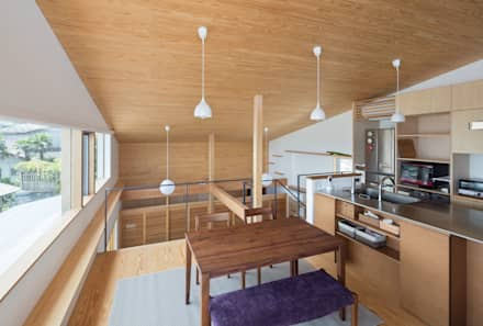 展望台の家: ろく設計室が手掛けたダイニングです。