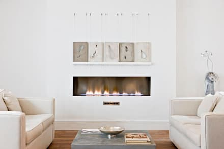 Bespoke Fireplaces: modern Living room by The Platonic Fireplace Company