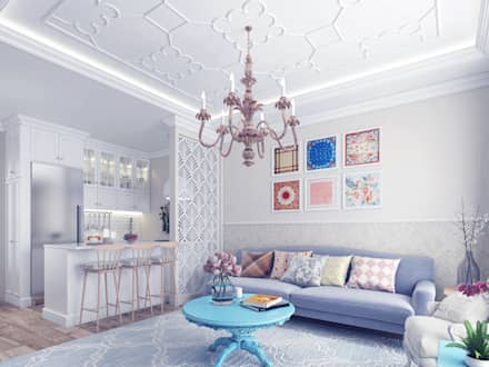 Provence Style Apartment. Istanbul 2016: country Living room by Ammar Bako design studio
