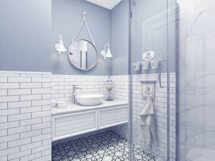Provence Style Apartment. Istanbul 2016: country Bathroom by Ammar Bako design studio