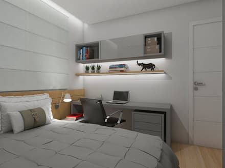 modern Nursery/kid's room by Nayla Diniz Arquitetura