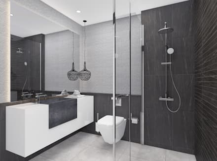 Modern Apartment   Istanbul 2016: Modern Bathroom By Ammar Bako Design  Studio