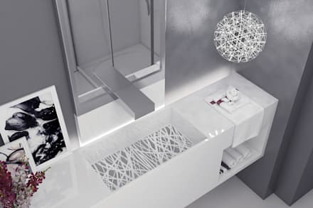 Modern apartment - Istanbul 2015: modern Bathroom by Ammar Bako design studio