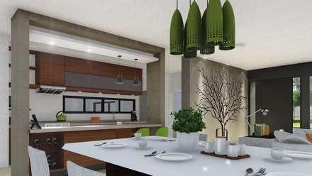 CASA CM: Comedores de estilo moderno por ARBOL Arquitectos